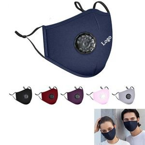 3-layer Reusable Cotton Face Mask With Breather Valve