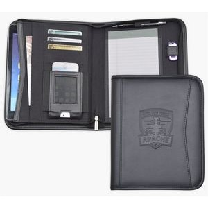 iPad Size Business Case/Padfolio, iPhone & ipad case, Black soft simulated leather.
